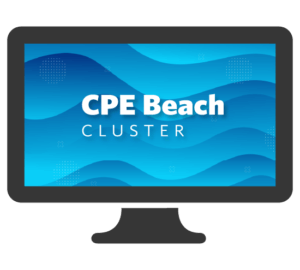 Beach Cluster Laptop Screen Graphic