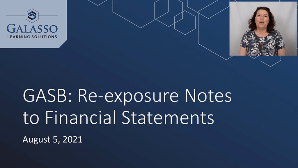 GASB: Re-exposure Notes to Financial Statements thumbnail